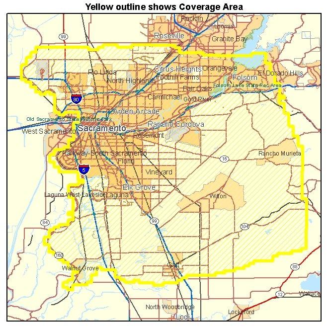 Sacramento County CA aerial photography