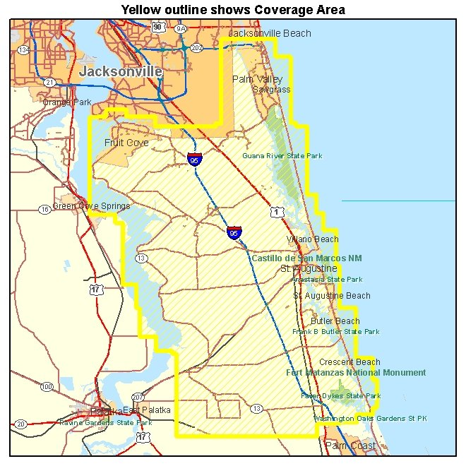 St Johns County Florida Map Pictures To Pin On Pinterest