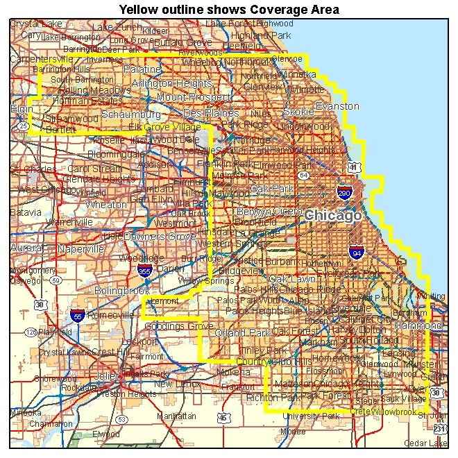 Cook County IL aerial photography