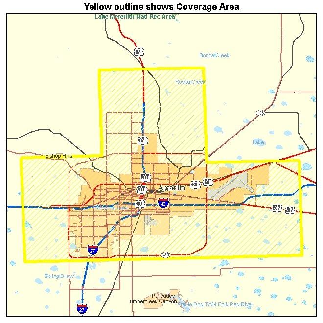 Amarillo TX aerial photography