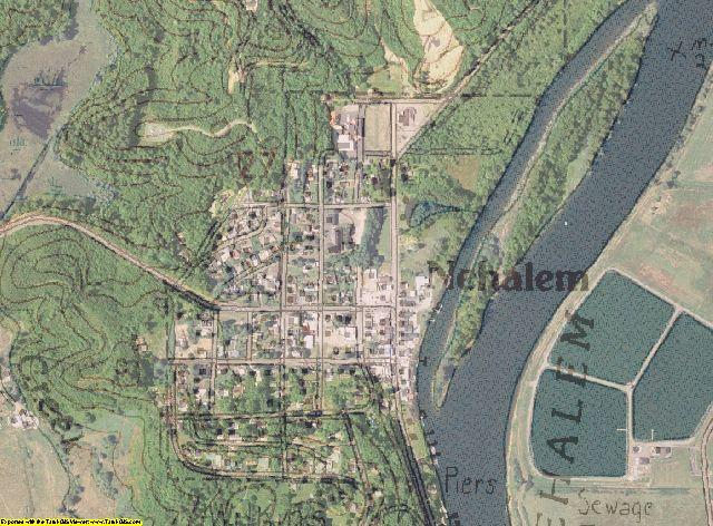 USGS topo aerial map