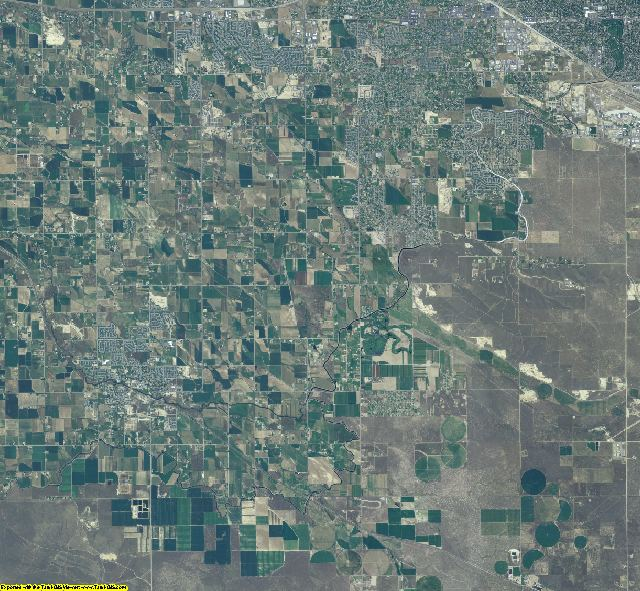Ada County, Idaho aerial photography