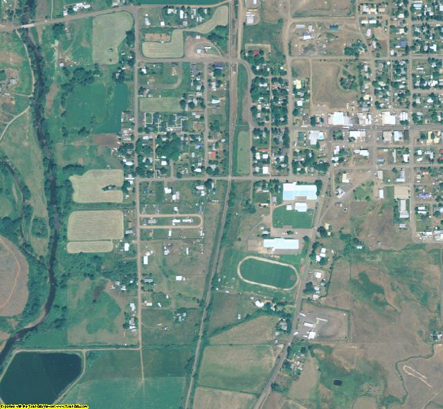 Adams County, ID aerial photography detail