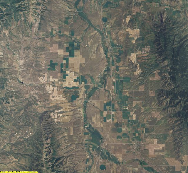 Bannock County, Idaho aerial photography