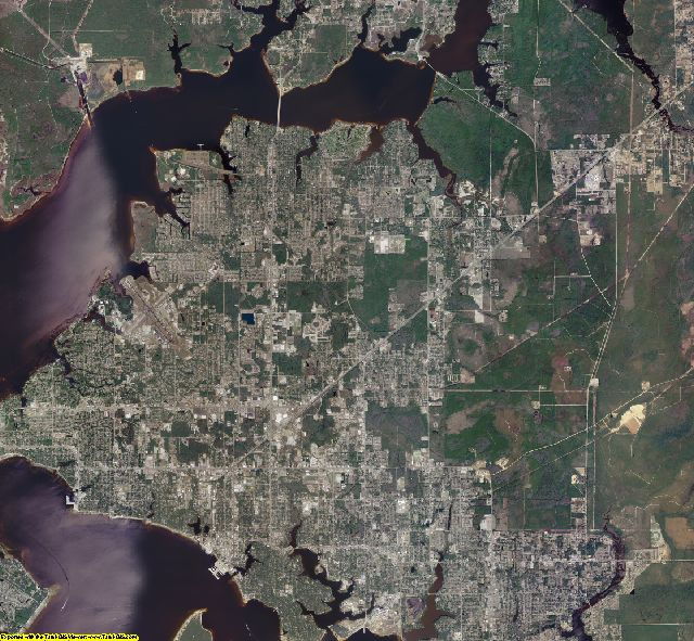 Bay County, Florida aerial photography