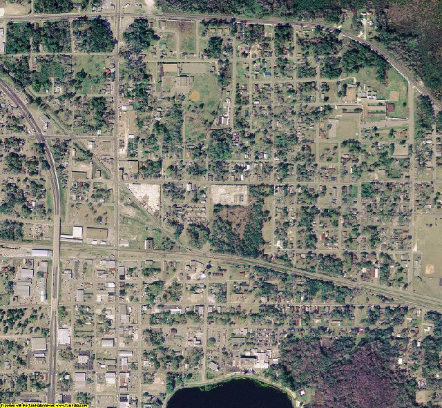 Columbia County, FL aerial photography detail