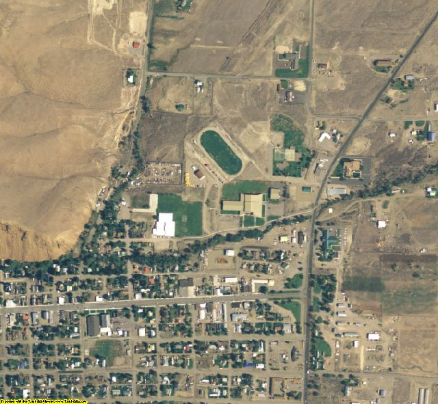 Custer County, ID aerial photography detail