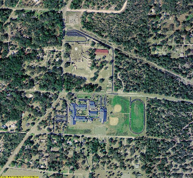 Dixie County, FL aerial photography detail