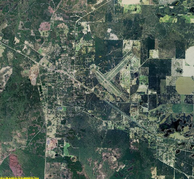 Dixie County, Florida aerial photography