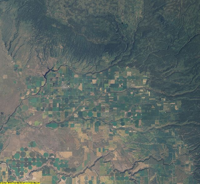 Fremont County, Idaho aerial photography