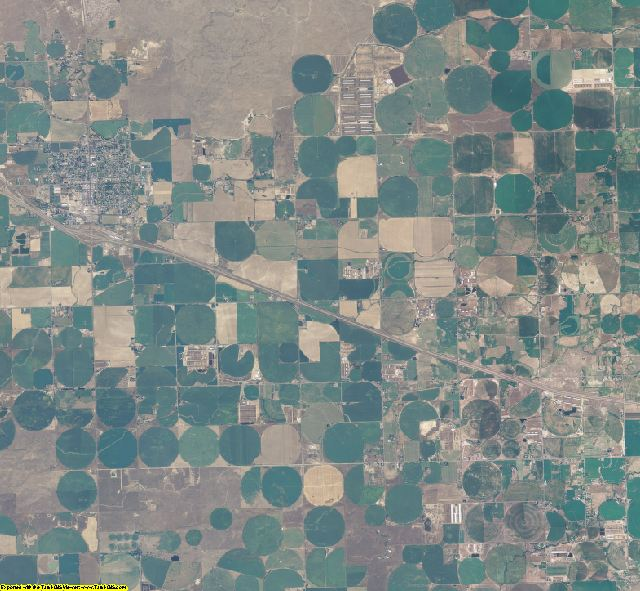 Gooding County, Idaho aerial photography