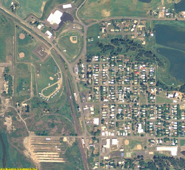 Latah County, ID aerial photography detail