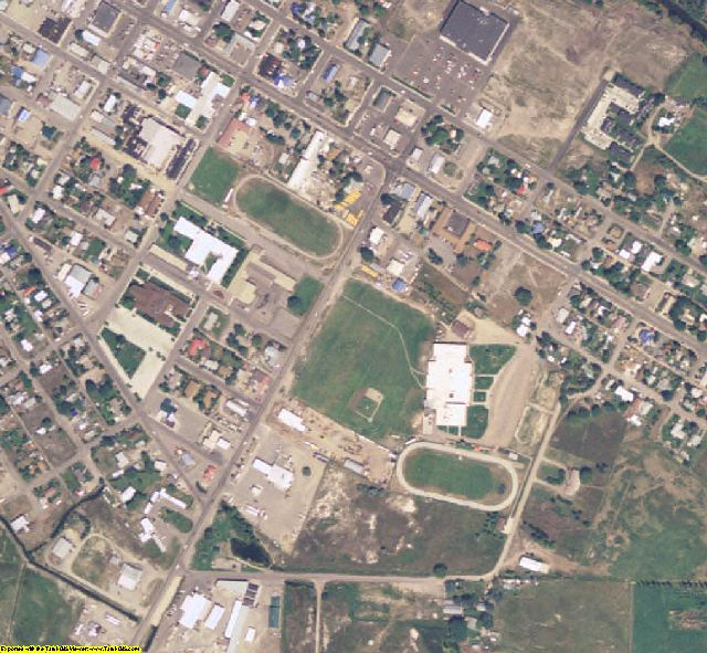 Lemhi County, ID aerial photography detail