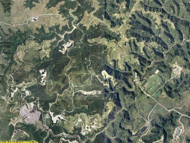 Martin County, Kentucky aerial photography