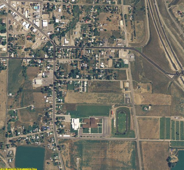 Oneida County, ID aerial photography detail