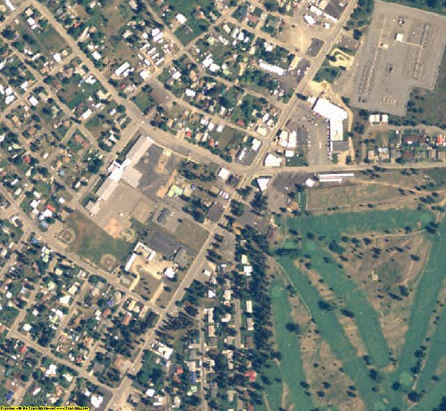 Shoshone County, ID aerial photography detail