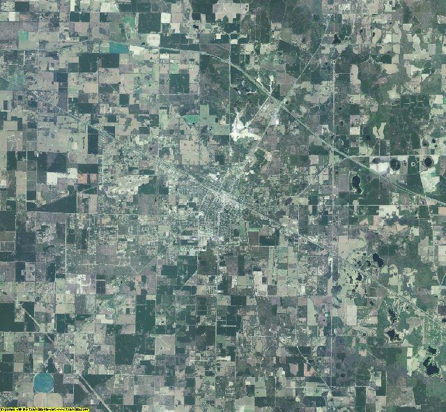 Suwannee County, Florida aerial photography