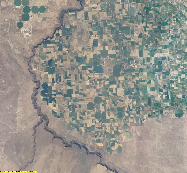 Twin Falls County, Idaho aerial photography