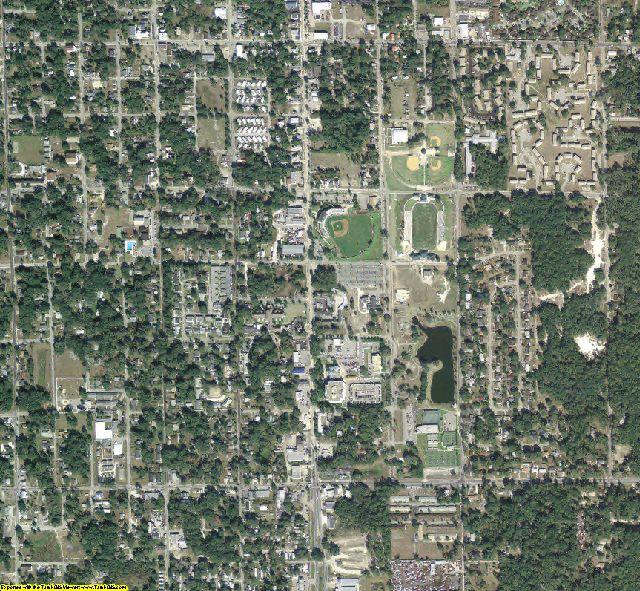 Volusia County, FL aerial photography detail