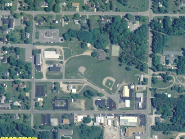 Alcona County, MI aerial photography detail