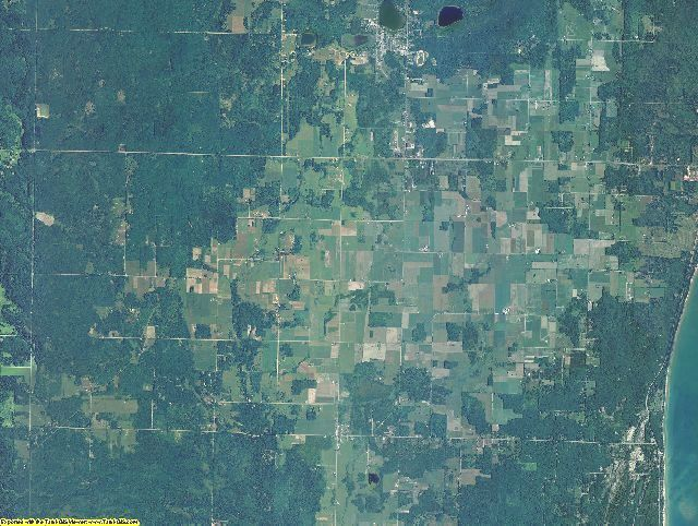 Alcona County, Michigan aerial photography
