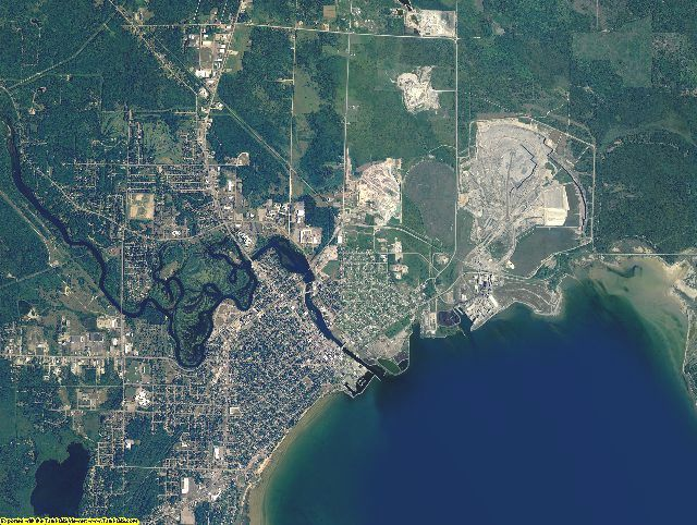Alpena County, Michigan aerial photography