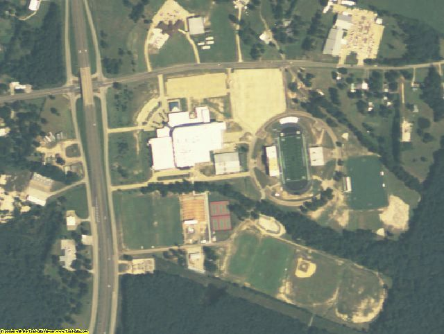 Angelina County, TX aerial photography detail