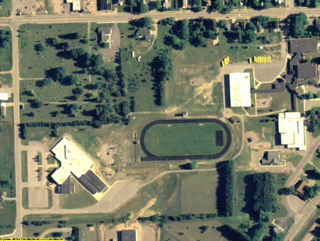 MI aerial photography detail