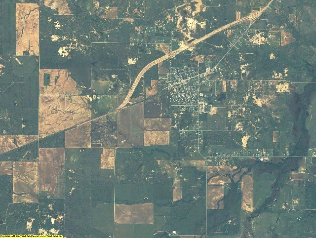 Archer County, Texas aerial photography