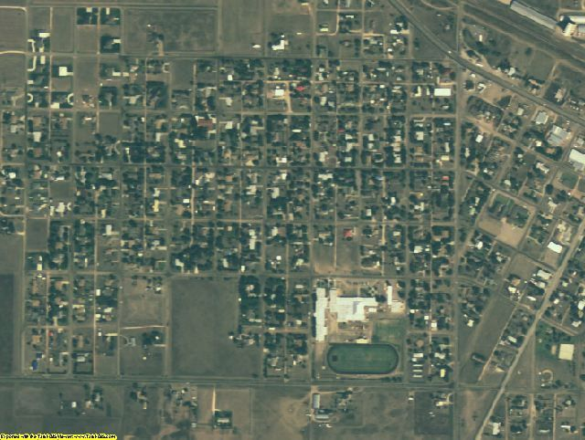 Armstrong County, TX aerial photography detail
