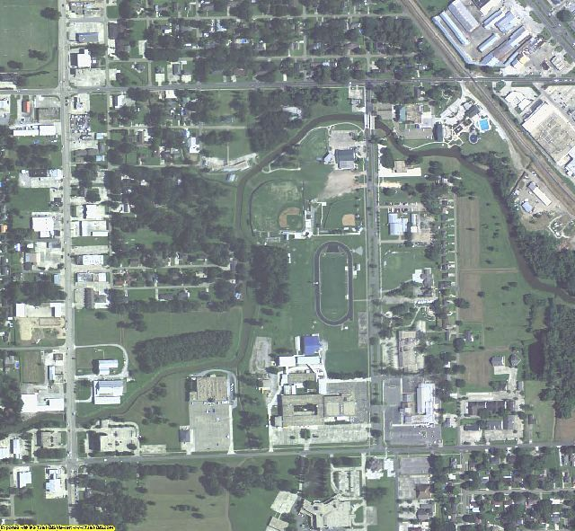 Ascension County, LA aerial photography detail