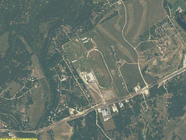 Bandera County, TX aerial photography detail