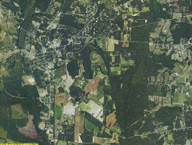 Barnwell County, South Carolina aerial photography