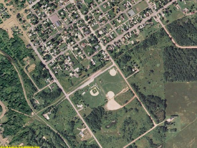 Bayfield County, WI aerial photography detail