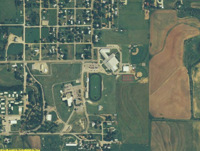 Baylor County, TX aerial photography detail