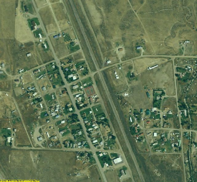 Beaverhead County, MT aerial photography detail