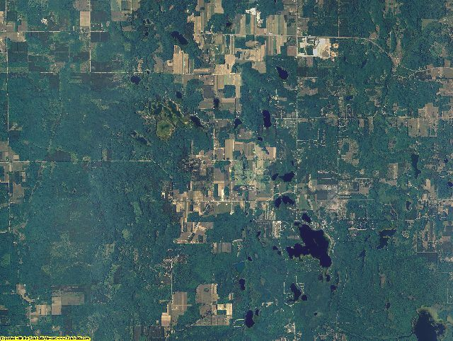 Benzie County, Michigan aerial photography