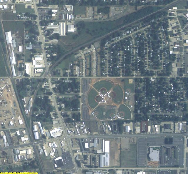 Bossier County, LA aerial photography detail