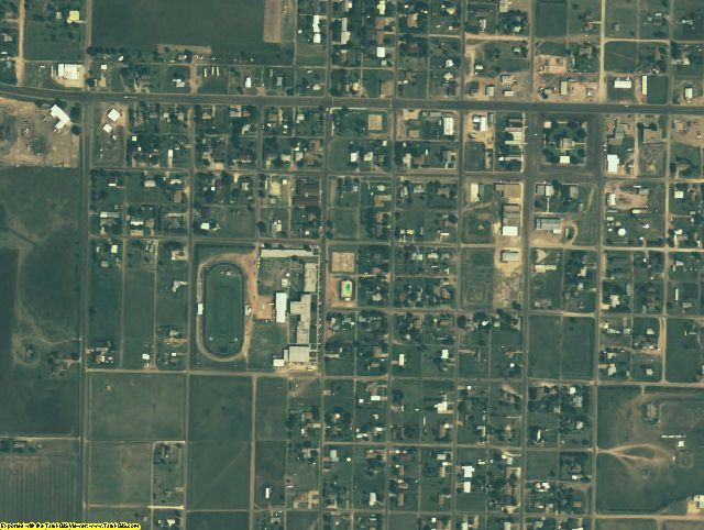 Briscoe County, TX aerial photography detail