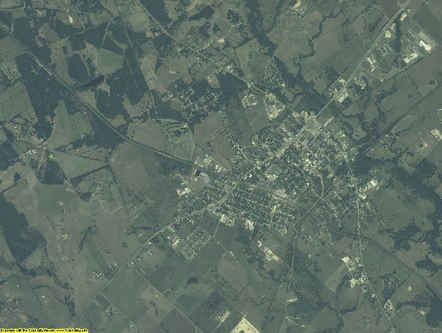 Burleson County, Texas aerial photography