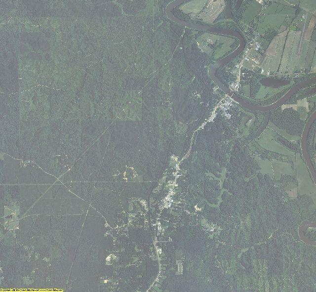 Caldwell County, Louisiana aerial photography