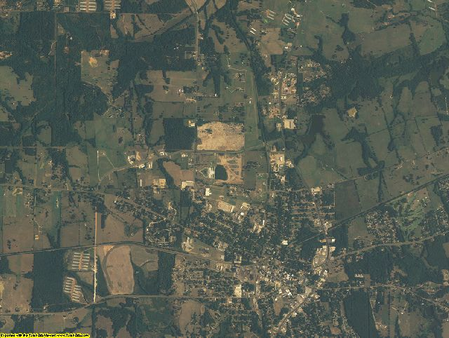 Camp County, Texas aerial photography