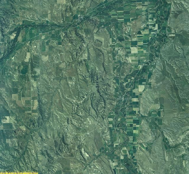 Carbon County, Montana aerial photography
