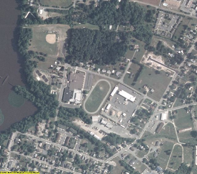Caroline County, MD aerial photography detail