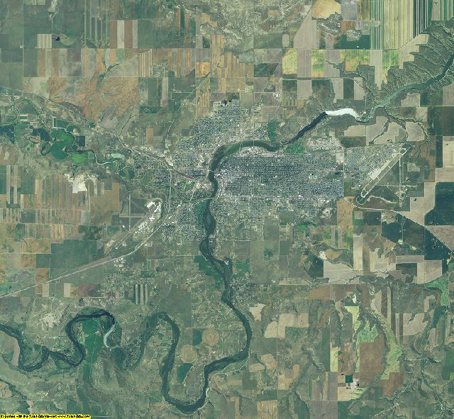 Cascade County, Montana aerial photography