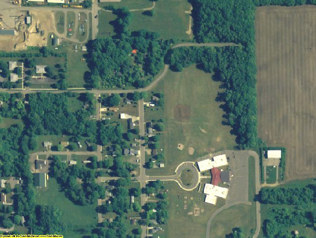 Cass County, MI aerial photography detail