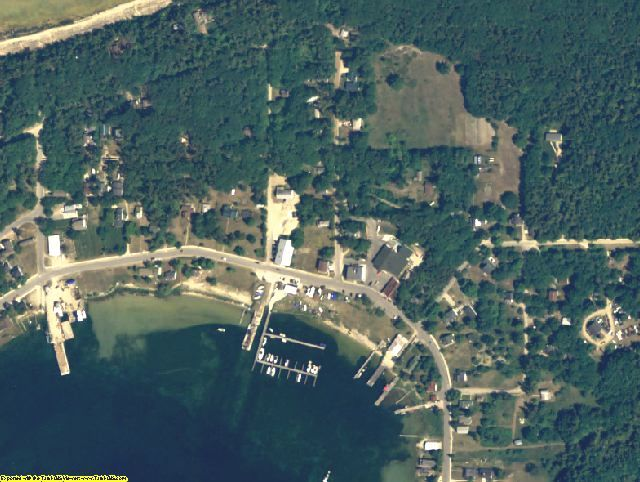 Charlevoix County, MI aerial photography detail