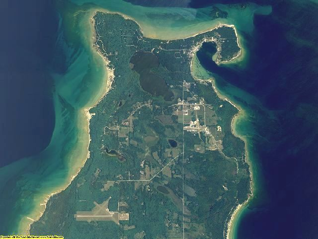 Charlevoix County, Michigan aerial photography
