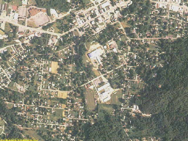 Cherokee County, NC aerial photography detail