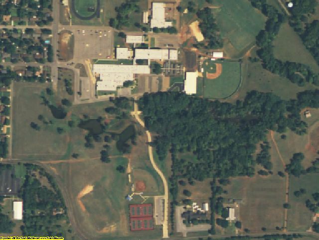 Cherokee County, TX aerial photography detail